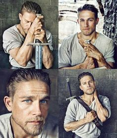 Charlie Hunnam as King Arthur - prom - Friseur King Arthur Movie, King Arthur Legend, King Arthur 2017, Charlie Hunnam Soa, Charlie Hunnam King Arthur, Roi Arthur, Viking Men, Youre My Person, Chef D Oeuvre
