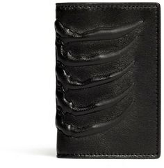 Ribcage Embossed Card Holder - Alexander McQueen