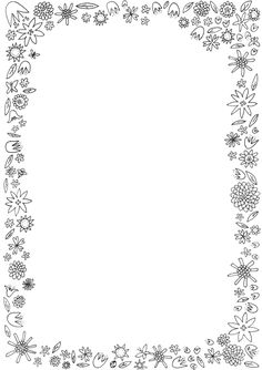 Kesäinen reunus kesätarinalle tai kesärunolle Page Borders Design, Border Design, Borders For Paper, Borders And Frames, Adult Coloring Pages, Coloring Sheets, Preschool Crafts, Crafts For Kids, Kindergarten Portfolio