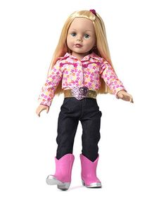 Blonde Cowgirl Cool 18'' Doll