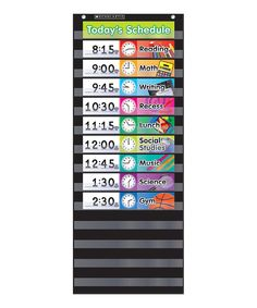 Take a look at this Daily Schedule Pocket Chart today!