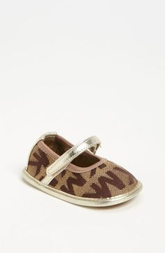 MICHAEL Michael Kors 'Baby Monogram' Mary Jane (Baby) available at #Nordstrom