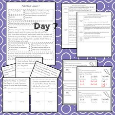 This #teaching unit provides 12 days of instruction Problem Solving Activities, Teaching Activities, Math Lesson Plans, Math Lessons, 3rd Grade Math Worksheets, Math Blocks, Data Tracking, Math Talk, Learning Targets
