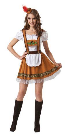 Adult One Size  Oktoberfest Germany Women Country Bar Girl Fancy Dress 5676d77073