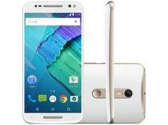 Smartphone Motorola Moto X Style 32GB - Branco e Dourado Dual Chip 4G Câm. 21MP