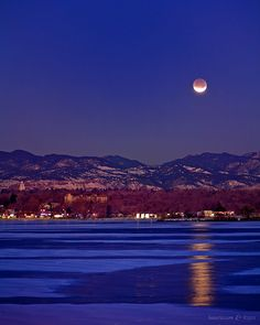 The Lunar Eclipse from Sloan's Lake in Denver, Colorado.