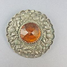 Old Jewellery Scottish Silver Plated Brooch