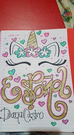 Resultado de imagen de portadas para cuadernos 2. Trimester, Doodle Borders, Notebook Art, Bullet Journal School, School Notebooks, Decorate Notebook, School Notes, Adventure Time Anime, Scrapbook Albums