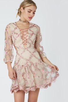 One Two Three Floral Dress