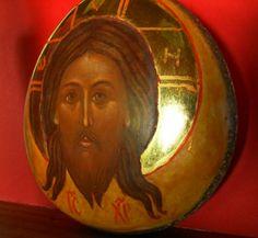 """Eine Seitenansicht meiner Stein-Ikone: """"Er wird sein ein Stein des Anstosses""""  Siehe auch: www.ikonenwerk.de"""