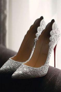 29 Oh-so-amazing Comfortable Wedding Shoes You've Got to See #2018 #shoes #fashion #wedding Shoes For Wedding, Silver Wedding Shoes, Wedding Pumps, Shoes For Brides, Wedding Heals, Cinderella Wedding Shoes, Silver Dress Shoes, Wedding Boots, Designer Wedding Shoes