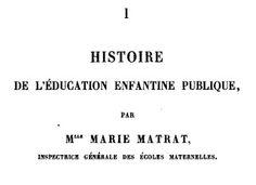 Manuels anciens: Matrat, Kergomard, Les écoles maternelles, 1889