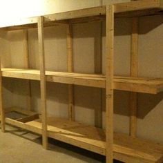Build Easy Free Standing Shelving Unit For Basement or Garage jwbowmannz Instructable