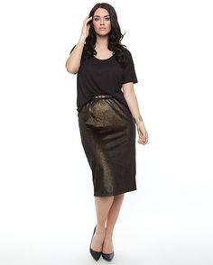 Harlow - Studio 54 Midi Skirt-Gold, $79.95 (http://www.harlowstore.com/new-arrivals/studio-54-midi-skirt-gold/)