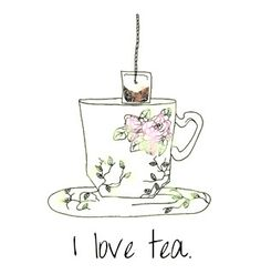 "Something my great grandmother use say ""He loves coffee. I love tea. I love honey and my honey loves me. Tee Kunst, Tea Quotes, Tea And Books, Cuppa Tea, My Cup Of Tea, High Tea, Drinking Tea, Afternoon Tea, Hot Chocolate"