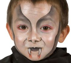 Grimtout, water make-up, dracula junior stages Maquillage Halloween Vampire, Halloween Makup, Sugar Skull Halloween, Halloween Looks, Boy Vampire Makeup, Dracula Makeup, Dracula Halloween, Face Painting Halloween Kids, Sugar Skull Face Paint