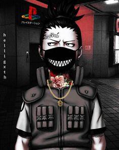 Shikamaru in etwas ungewöhnlichen Aussehen. Black Cartoon Characters, Cartoon Art, Anime Characters, Naruto Sasuke Sakura, Anime Naruto, Anime Guys, Boruto, Shikamaru, Wallpaper Naruto Shippuden