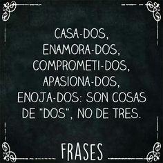#SoloDos #Frase #Casados