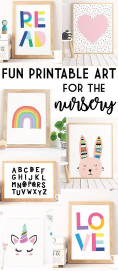 Fun Printable Wall Art for the Nursery