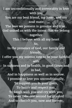 22 Examples About How to Write Personalized Wedding Vows - Quotes - Romantic Wedding Vows, Wedding Vows To Husband, Dream Wedding, Wedding Rustic, Fall Wedding, Wedding Ceremony, Wedding Venues, Trendy Wedding, Wedding Vows That Make You Cry