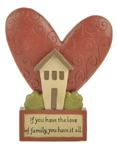 Love of Family Heart on Base Sculpture (Set of 2)