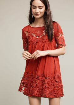 Anthropologie's Magnolia Lace Dress for Autumn.   See more Anthro favorites for the new season - www.prettywithsprinkles.com