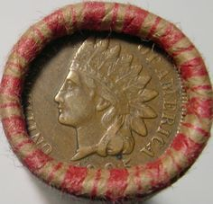 UNSEARCHED WHEAT ROLL PDS + 1901 INDIAN CENT + 1905 INDIAN CENT + 5 BONUS COINS