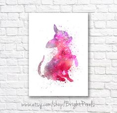 Chihuahua Dog Minimalist Watercolor Wall Art by BrightPixels