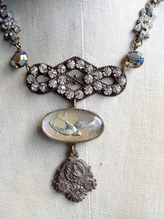 Recuerdo Opalescent Bird Vintage Repurposed by PaulaMontgomery