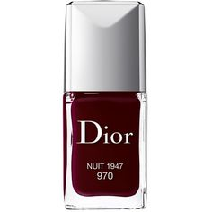 Dior Vernis Couture Colour Gel-Shine & Long-Wear Nail Lacquer ($27) ❤ liked on Polyvore featuring beauty products, nail care, nail polish, makeup, nails, beauty, esmaltes, nuit, glossy nail polish and gel nail color