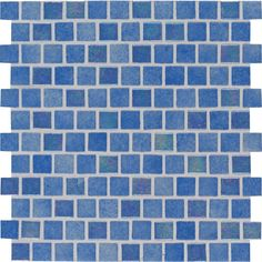 MS International Hawaiian Beach 11.81 in. x 11.81 in. x 4 mm Glass Mesh-Mounted Mosaic Tile (19.4 sq. ft. / case), Blue