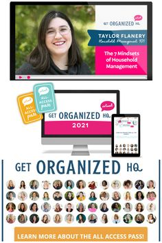 Are you ready to organize your life and streamline your home for good? If so, check out Get Organized HQ and get access to over 70 practical workshops for a stress-free home, including a workshop from me, Taylor! Organizing Tips, Organizing Your Home, Organization Hacks, Cleaning Hacks, Household Products, Household Tips, Home Storage Solutions, Organize Your Life, Decluttering