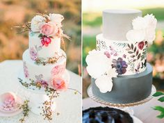 beautiful hand painted wedding cakes