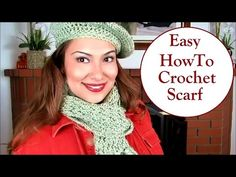 Easy How-to Crochet Spring Scarf Tutorial - YouTube