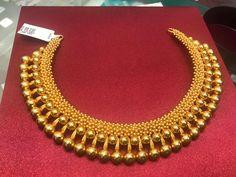 short gold gundu mala – boutiquedesignerjewellery.com