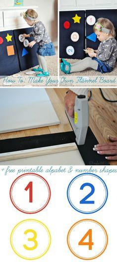 How To Make An Easy DIY Felt Board + Printable Alphabet & Number Shapes