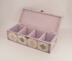 Decoupage Ideas, Tea Box, My Tea, Shabby Chic Style, Made Of Wood, Wooden Boxes, Wood Crafts, Rustic Wedding, Best Gifts