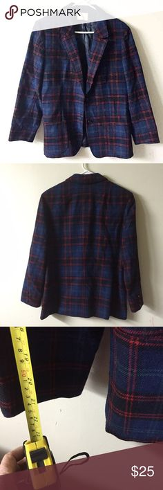 Vtg Pendleton pure Virgin wool plaid blazer jacket In great condition. High quality will fit most size please check measurments Pendleton Jackets & Coats Blazers