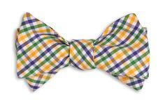 Mardi Gras Tattersall Bow Tie