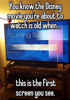 You know the Disney movie you're about to watch is old when. this is the first screen you see. haha so true! Disney Memes, Disney Pixar, Old Disney Movies, Punk Disney, Disney Facts, Disney Quotes, Disney Magic, Emperor's New Groove, Right In The Childhood