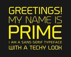 Prime 4 620x503 Prime | Font | Free Download