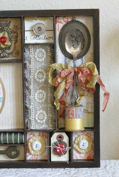 7Gypsies shadowbox tray with vintage items