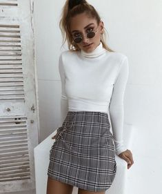 ⚡️The 'Fern' top and 'Madison' skirt ⚡️Tap to shop now – Outfit Inspo – Summer Outfits Mode Outfits, Casual Outfits, Fashion Outfits, Insta Outfits, Club Outfits, Plaid Skirt Outfits, School Skirt Outfits, Fashion Ideas, Look Fashion