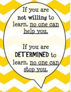 5 more quotes to encourage and promote a growth mindset!Designed to print vertically on 8 X 11 with yellow chevron/zigzag background. Math Quotes, School Quotes, Teacher Quotes, Learning Quotes, Education Quotes, Teamwork Quotes, Leadership Quotes, Encouragement Quotes, Wisdom Quotes