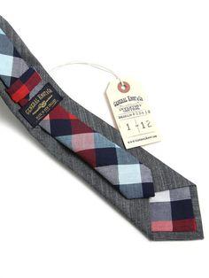 Grey + Plaid Tie