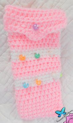 Beaded Cotton Candy Pencil Case by @SuzBroadhurst