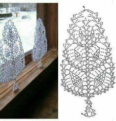 Witam:) To co wczoraj zobaczyłam na swojej tablicy na FB S Crochet Snowflake Pattern, Crochet Leaves, Christmas Crochet Patterns, Crochet Christmas Ornaments, Crochet Motifs, Crochet Snowflakes, Crochet Diagram, Crochet Chart, Thread Crochet