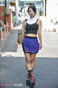 #Harajuku #Fashion | Azusa, student, 21 years old | Harajuku, Tokyo, Japan | outfit info in the linked website.