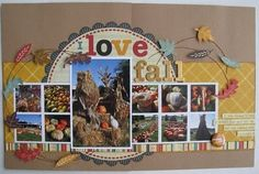 Layout by AmyInKy scrapbook layout  U work it girl..... I love to see layouts with several pictures in them!!!!
