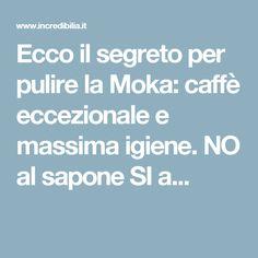 Ecco il segreto per pulire la Moka: caffè eccezionale e massima igiene. NO al sapone SI a...